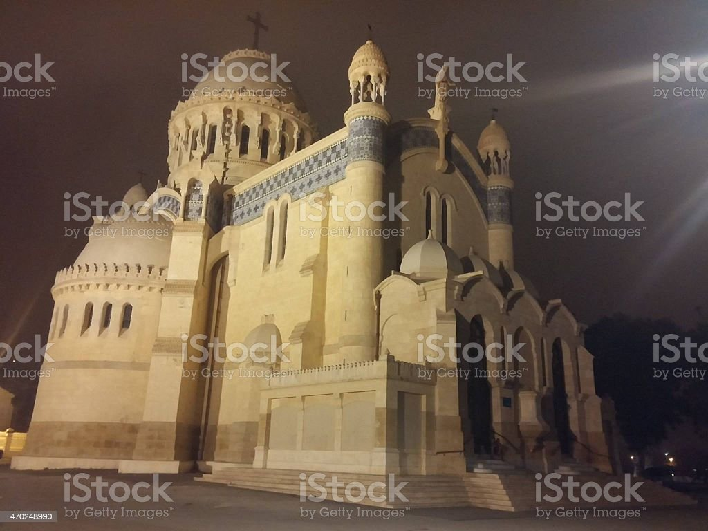 Notre Dame d'afrique d'algerie,our lady of Africa Algeria stock photo