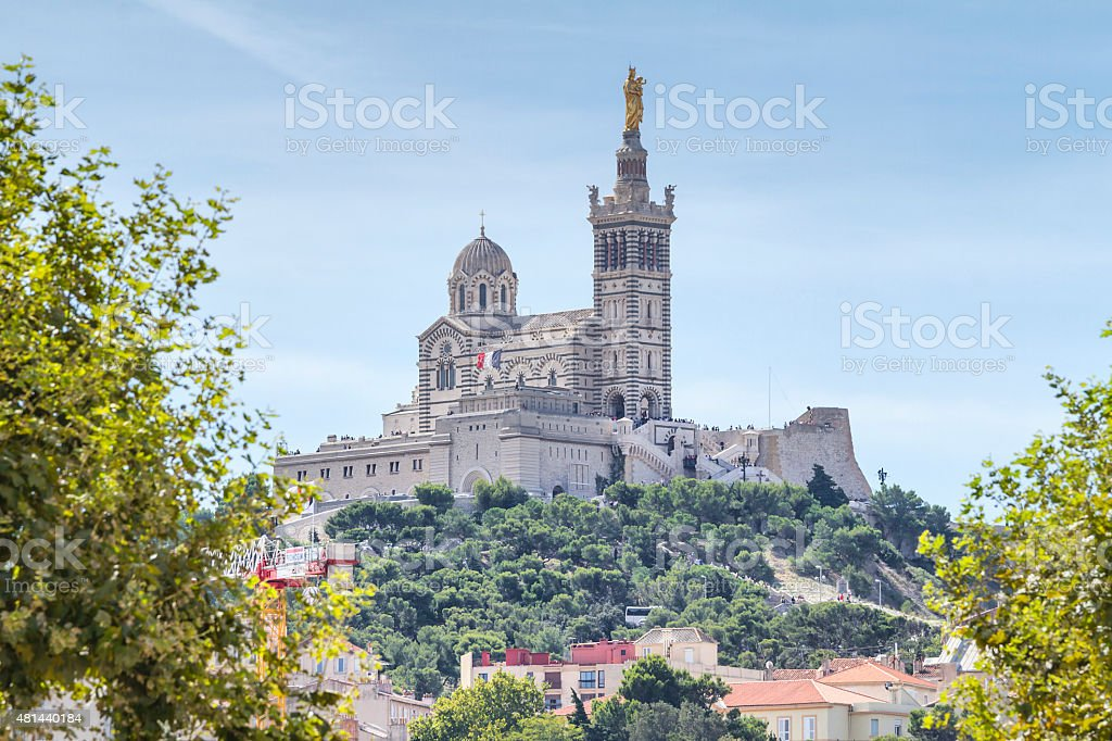 Notre Dame de la Garde - Marseille stock photo