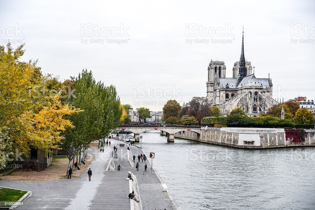 Notre Dame de Paris Cathedral, France stock photo