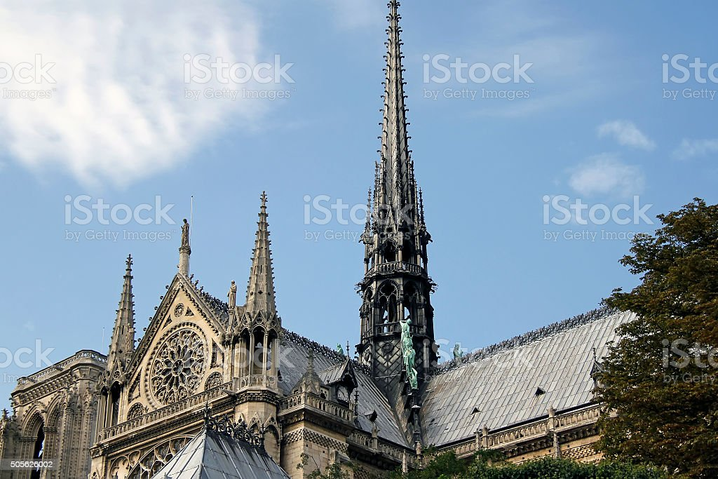 Notre Dame de Paris cathedral in Paris stock photo