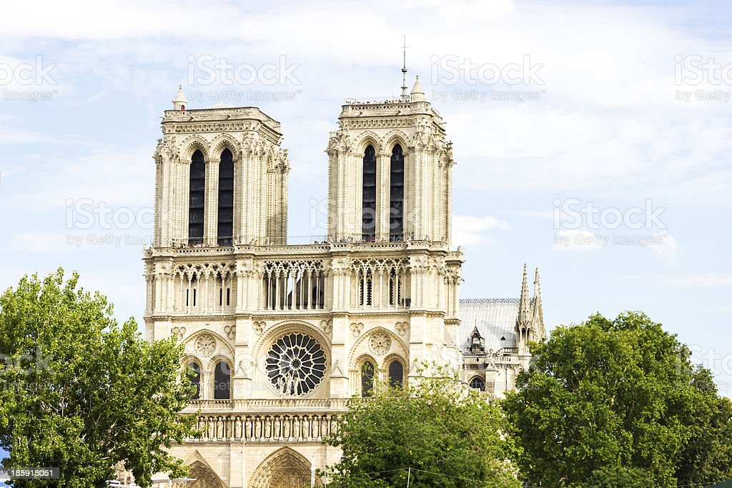 Notre Dame de Paris cathedral royalty-free stock photo