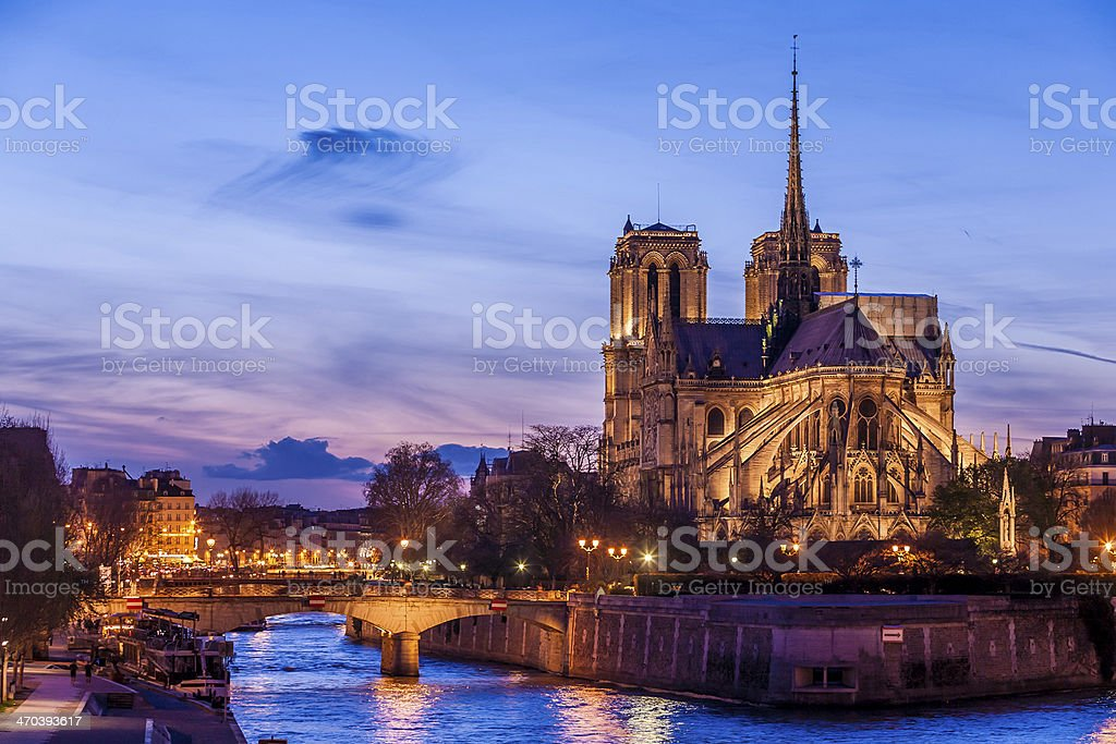 Notre Dame de Paris Cathedral stock photo
