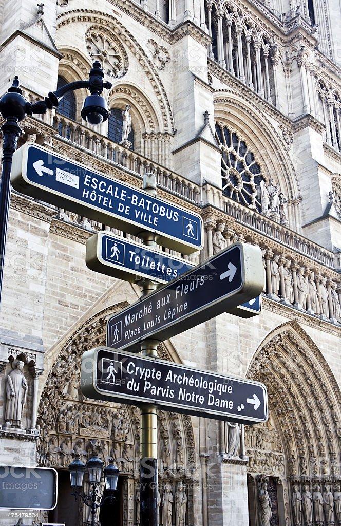 notre Dame de Paris is a Gothic cathedral stock photo