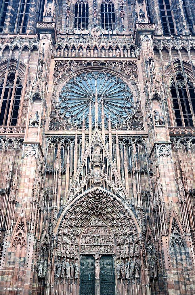 Notre Dame de Strasbourg stock photo