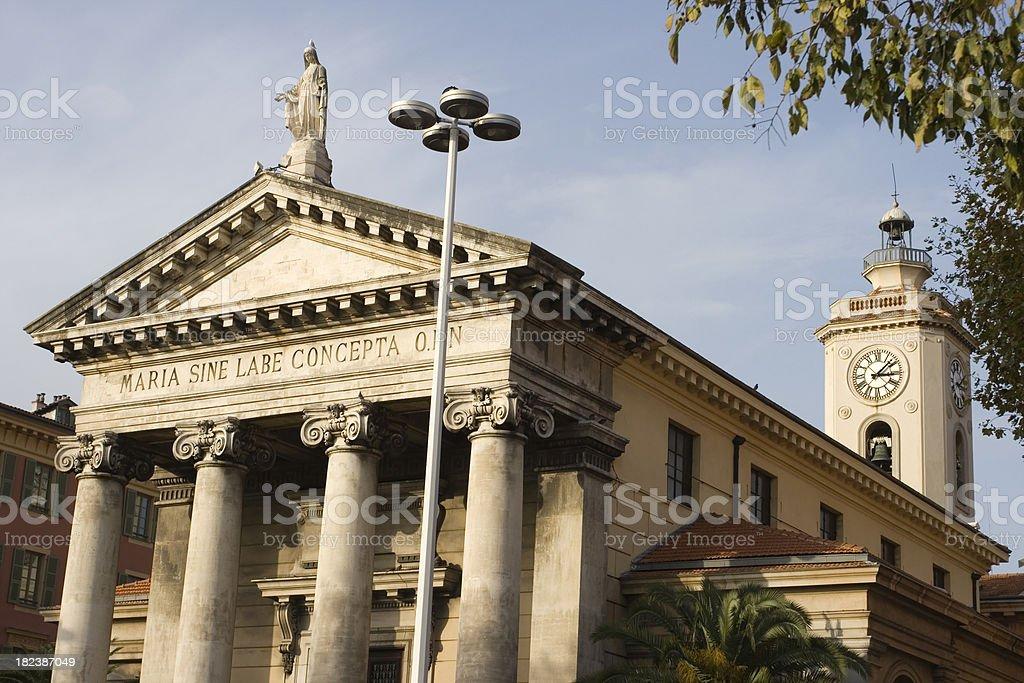 Notre Dame du port, Nice, France royalty-free stock photo