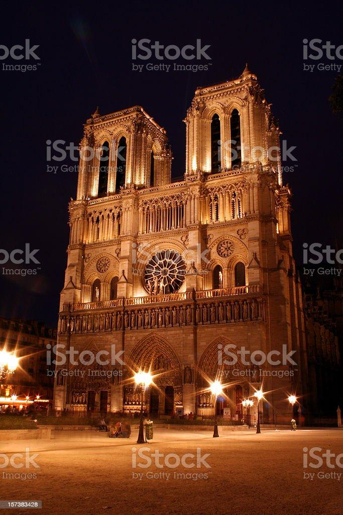 Notre Dame in Paris stock photo