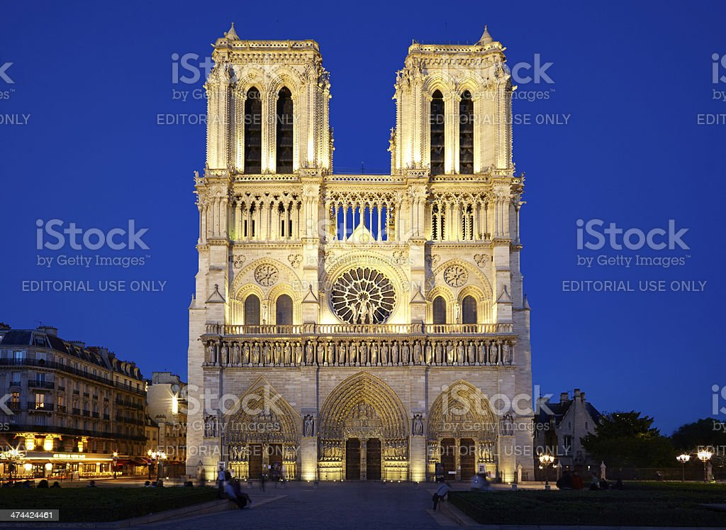 Notre Dame In Paris royalty-free stock photo
