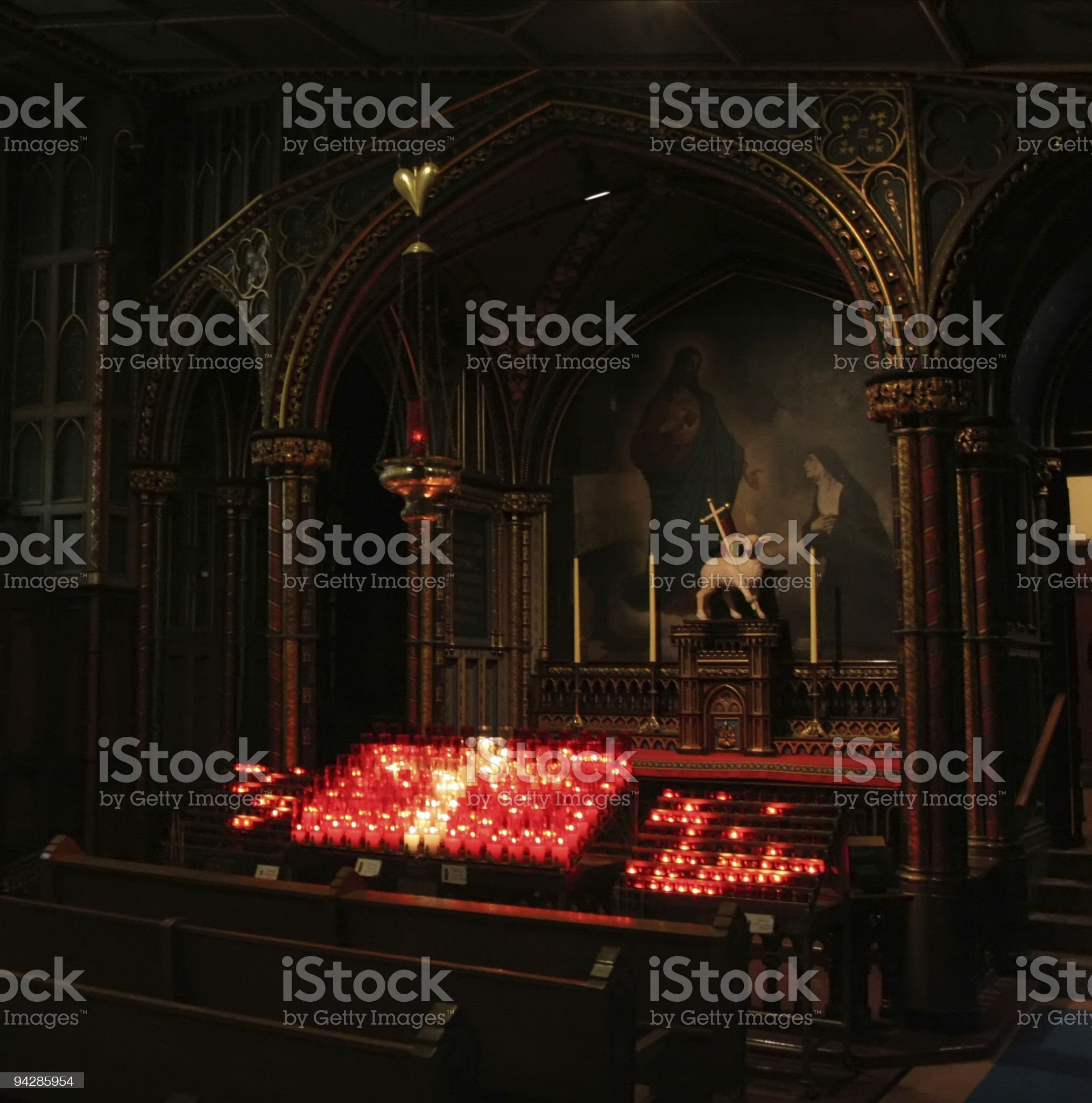 Notre Dame Interiors, Montreal royalty-free stock photo