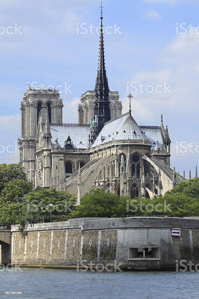 Notre Dame on the River Seine royalty-free stock photo