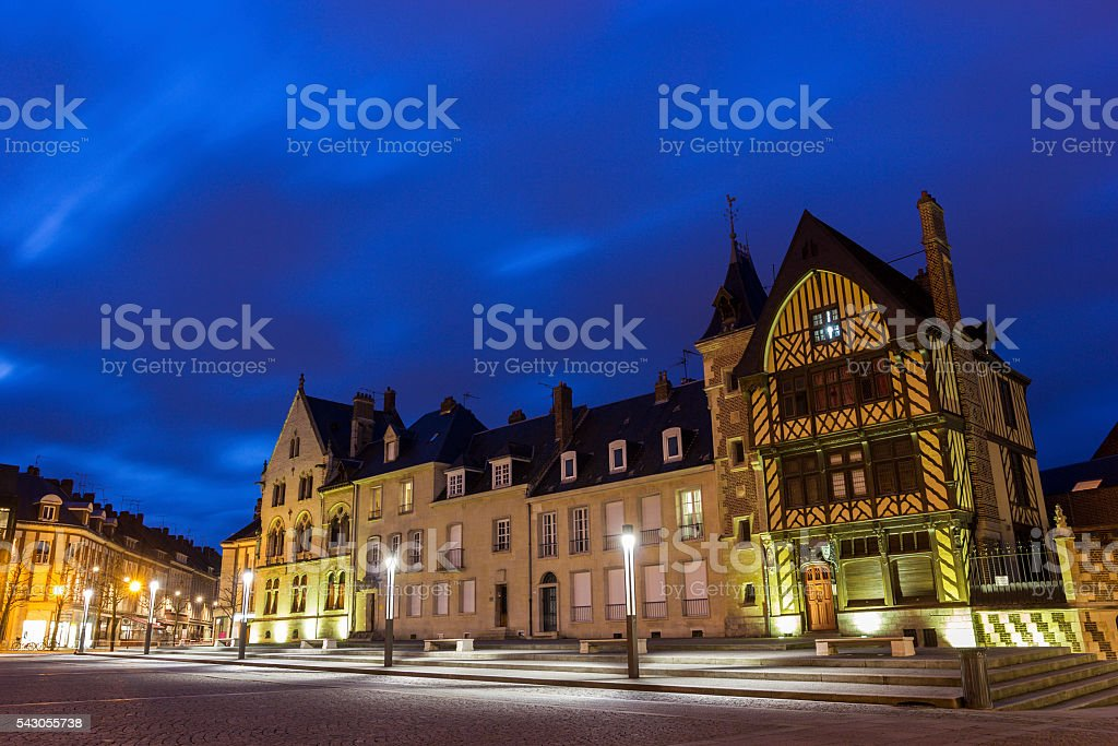 Notre Dame Place in Amiens in France stock photo