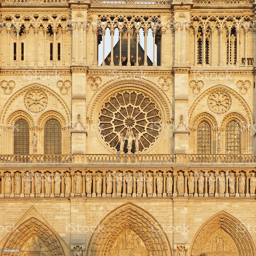 Notre Dame - West Facade royalty-free stock photo