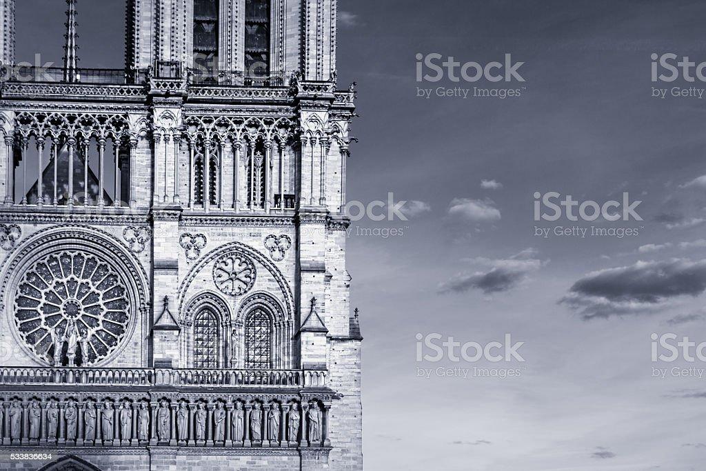 Notre Dame, west facade stock photo