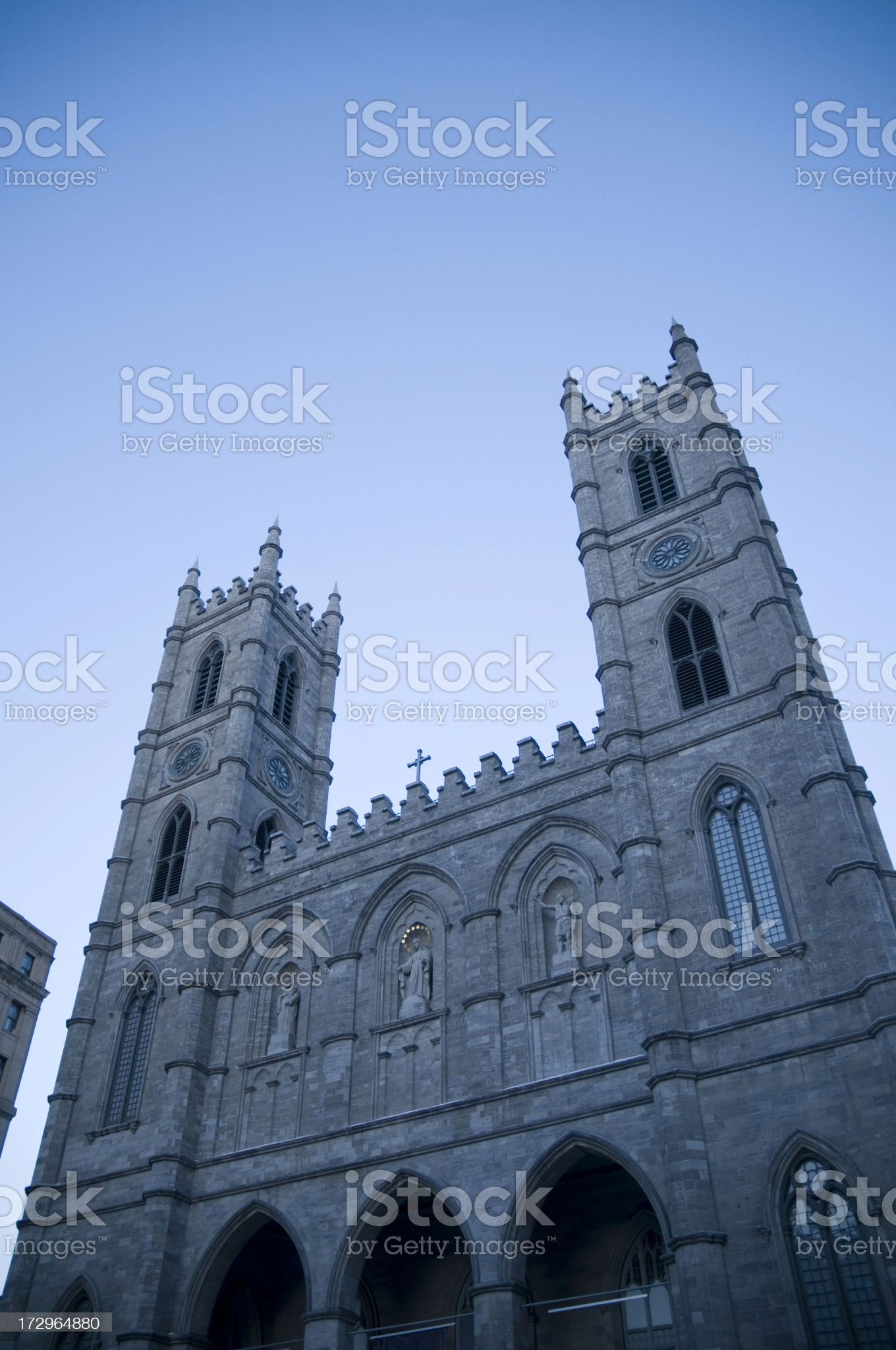 Notre-Dame basilica in Montreal royalty-free stock photo