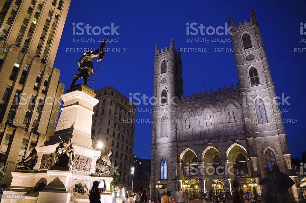 Notre-Dame Basilica in Montreal, Quebec royalty-free stock photo