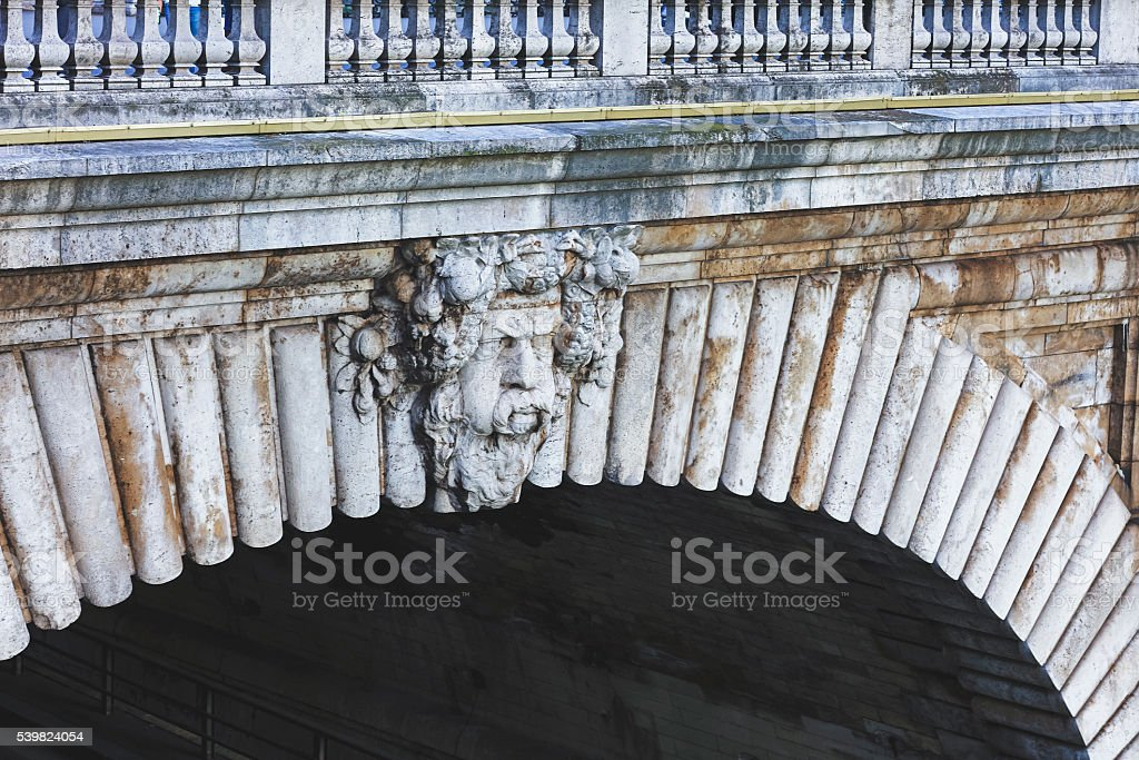 Pont Notre-Dame - mascaron stock photo