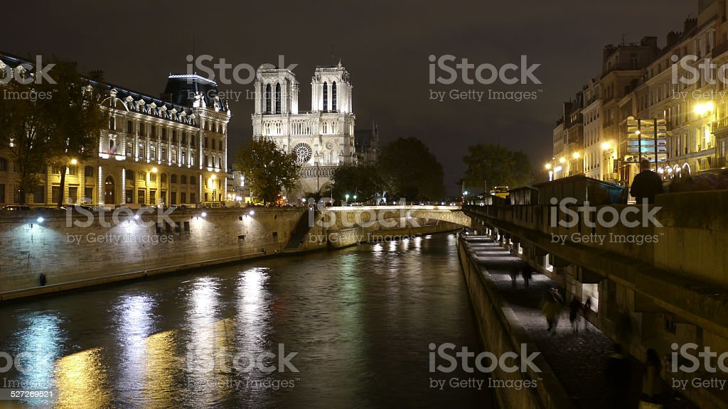Notre-Dame Castle at nigth royalty-free stock photo