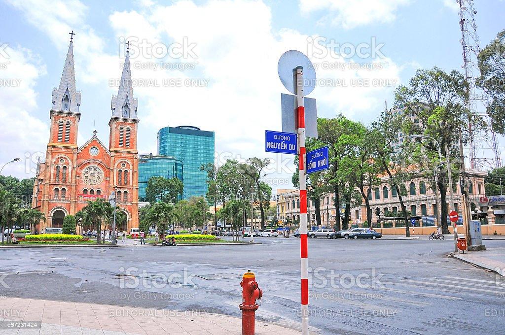 Notre-Dame Cathedral Basilica of Saigon, Vietnam stock photo
