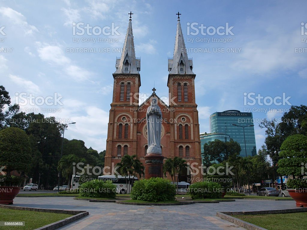Notre-Dame Cathedral in Ho Chi Minh City, Vietnam. stock photo