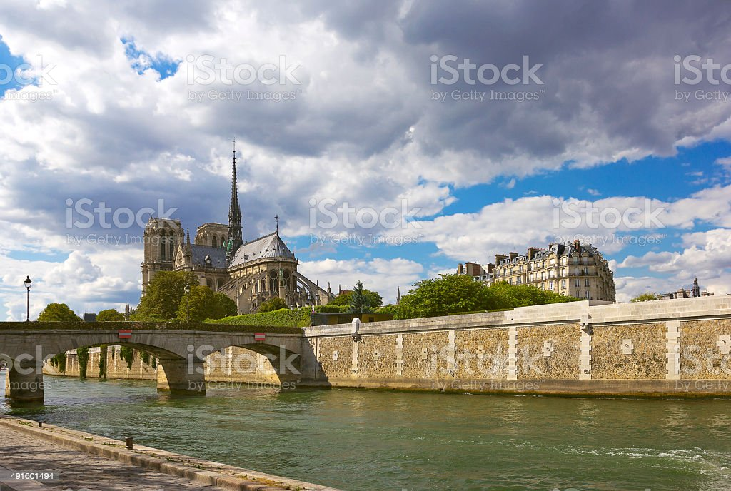 Cathedral Notre-Dame de Paris, France stock photo
