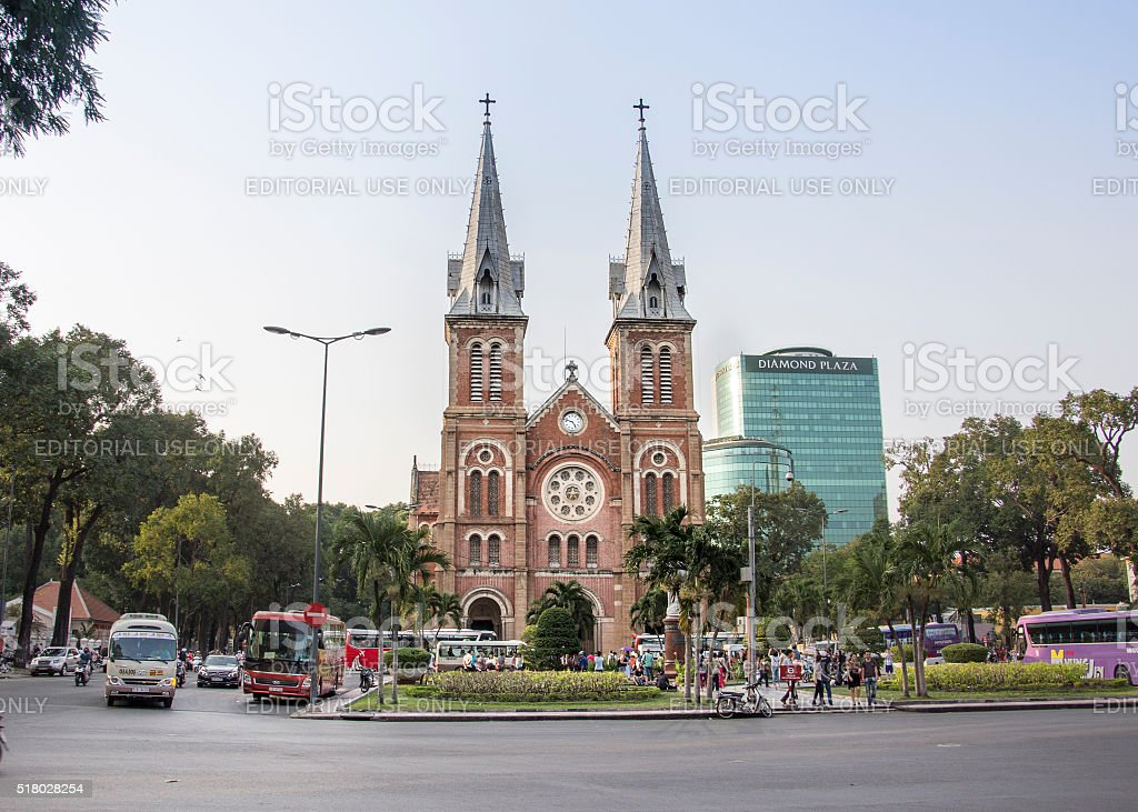 Notre-Dame Cathedral of Saigon stock photo