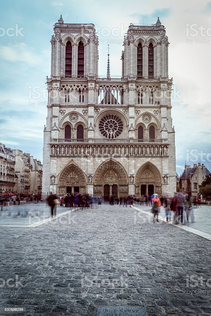 Notre-Dame Cathedral, Paris - France stock photo