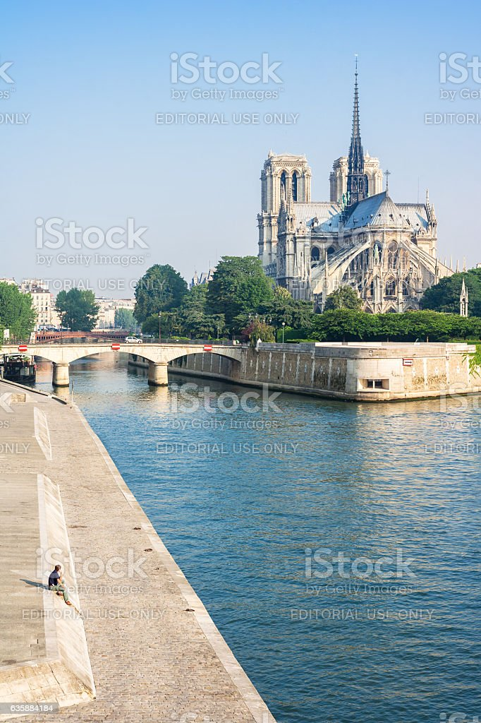 Notre-Dame de Paris in the summer morning. Paris, France royalty-free stock photo
