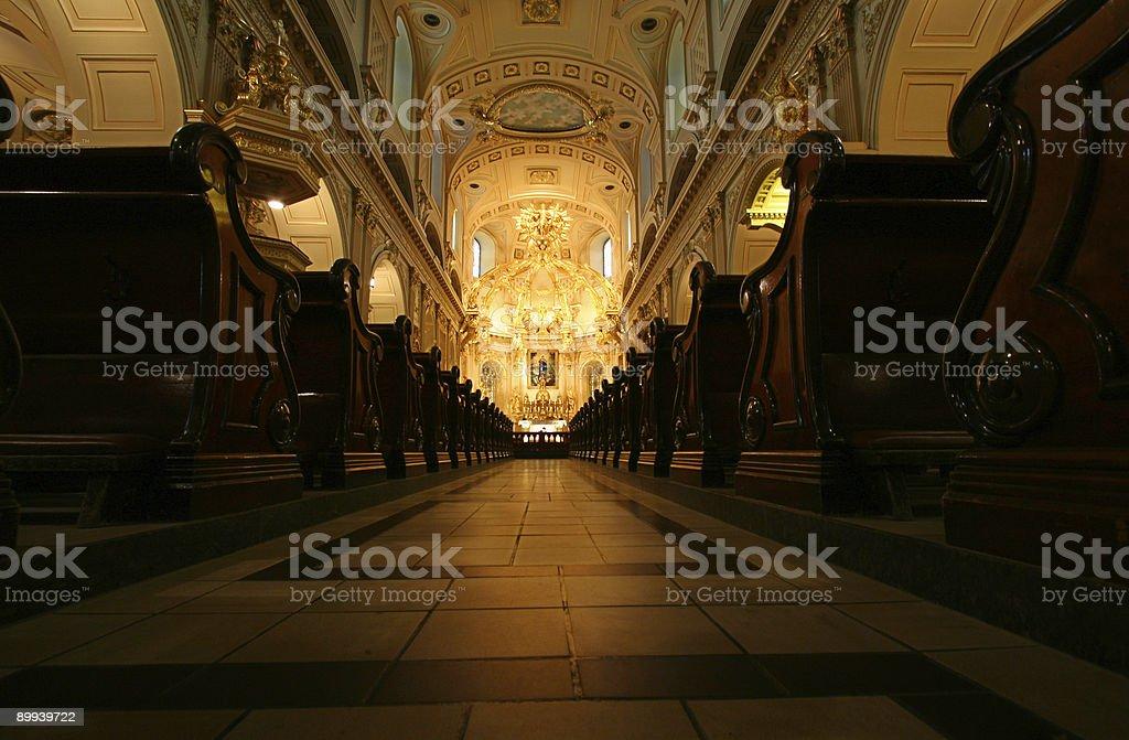 Notre-Dame de Qu?bec royalty-free stock photo
