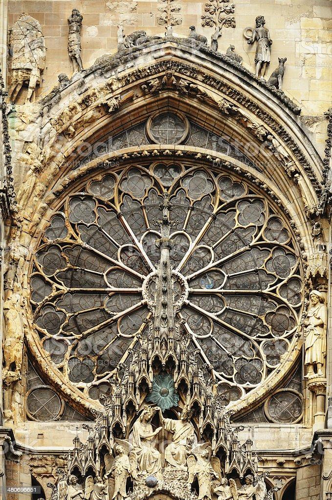 Notre-Dame de Reims royalty-free stock photo