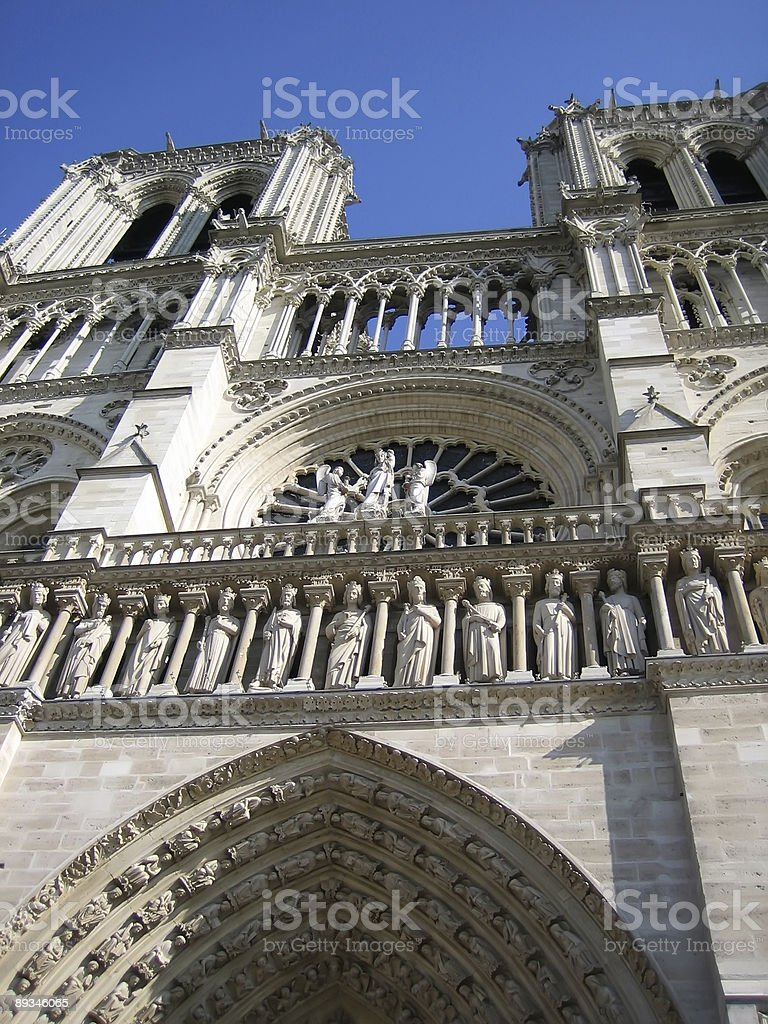 Notre-Dame from below royalty-free stock photo