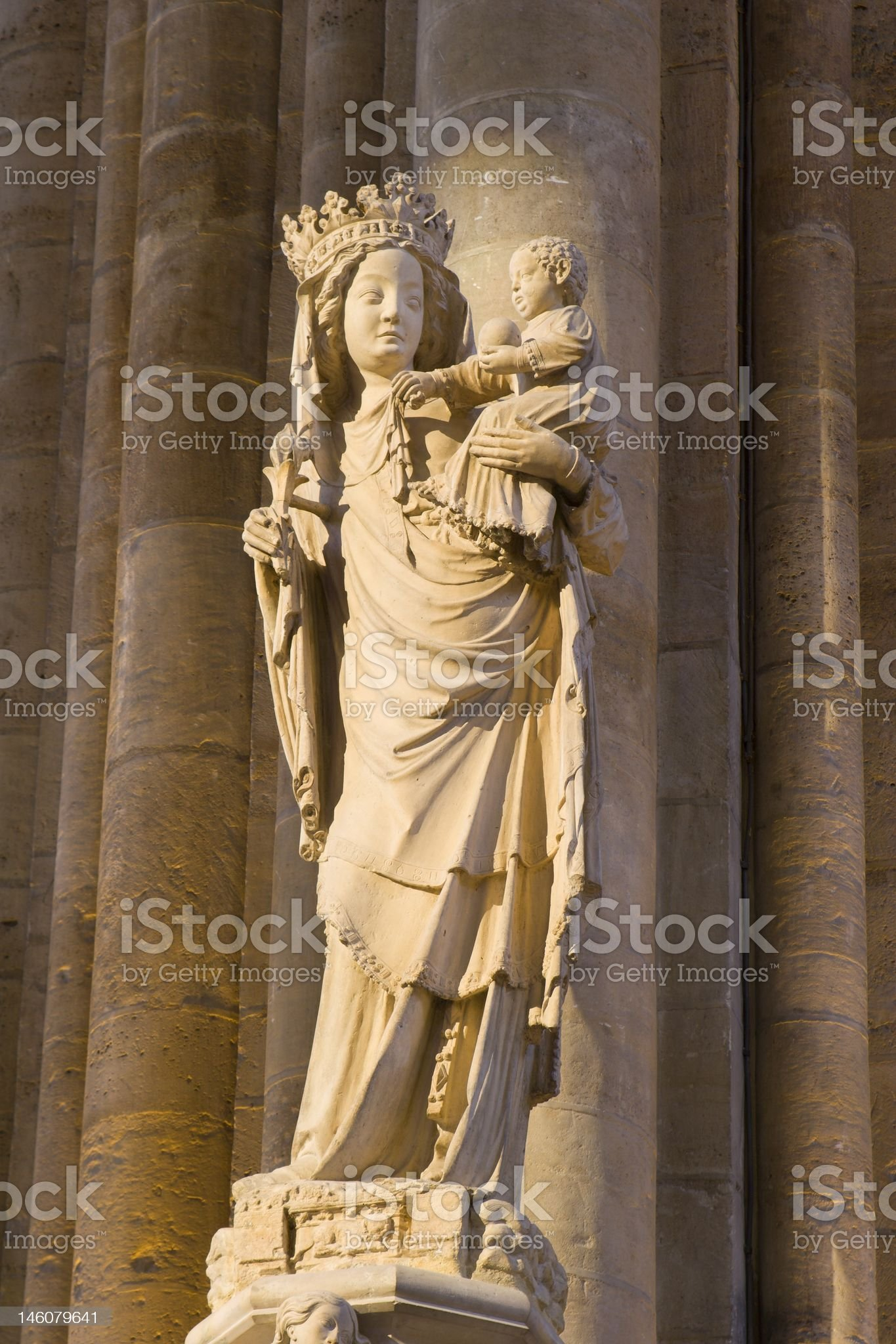 Notre-Dame from Paris in cathedral royalty-free stock photo