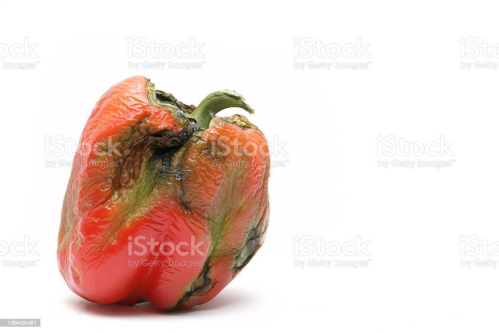 not-so-fresh bell pepper stock photo