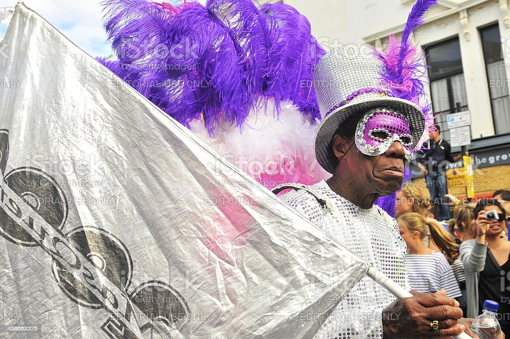 Notting Hill Carnival parade stock photo
