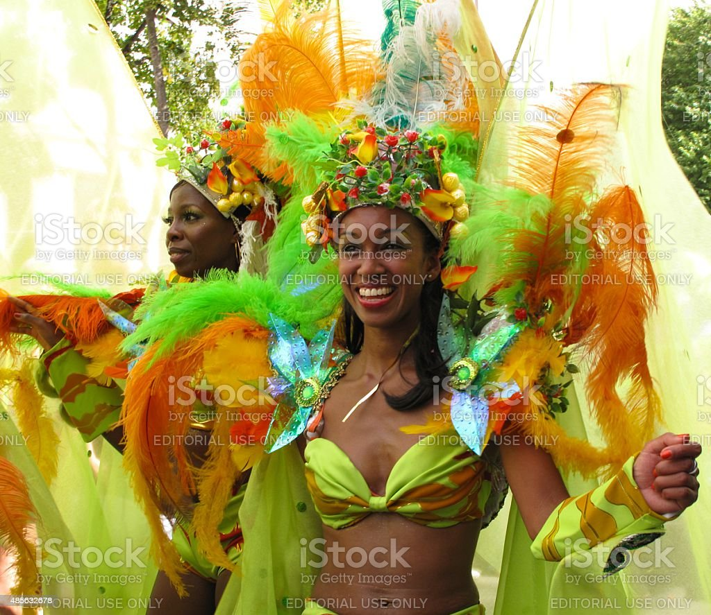 Notting Hill Carnival performers in London, England stock photo