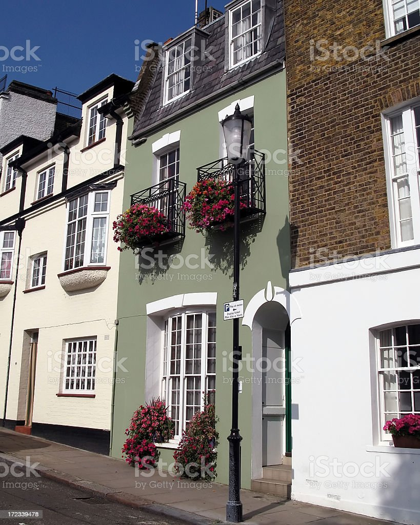 Notting Hill street stock photo