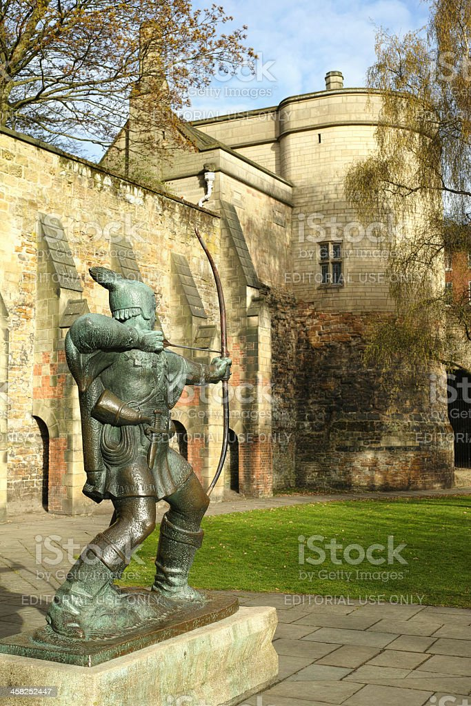 Nottingham Castle gatehouse. stock photo
