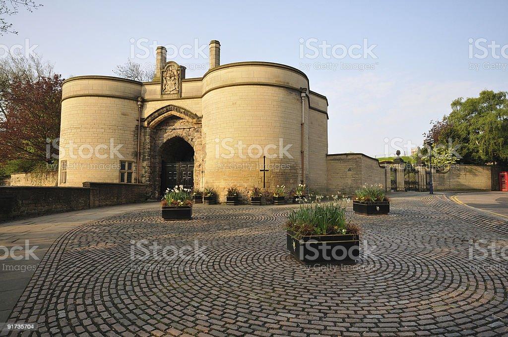 Nottingham Castle Gatehouse royalty-free stock photo