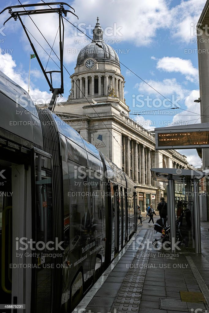 Nottingham city tram. royalty-free stock photo