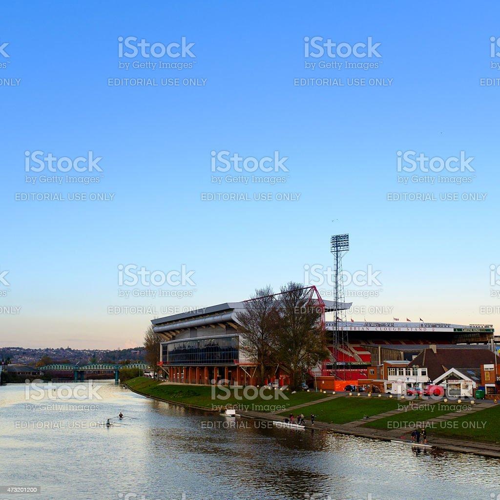 Nottingham Forest Football Ground River Trent stock photo