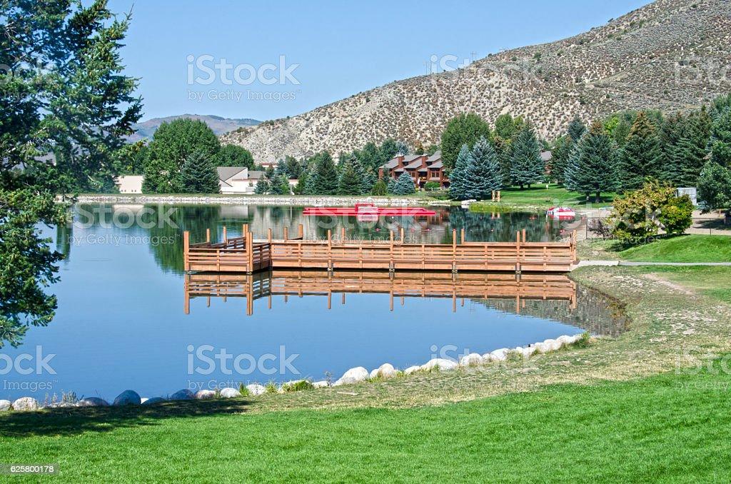 Nottingham Lake in Avon, Colorado stock photo