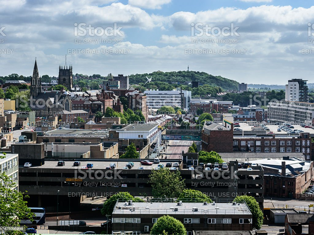 Nottingham skyline looking East to Sneinton and Colwick stock photo