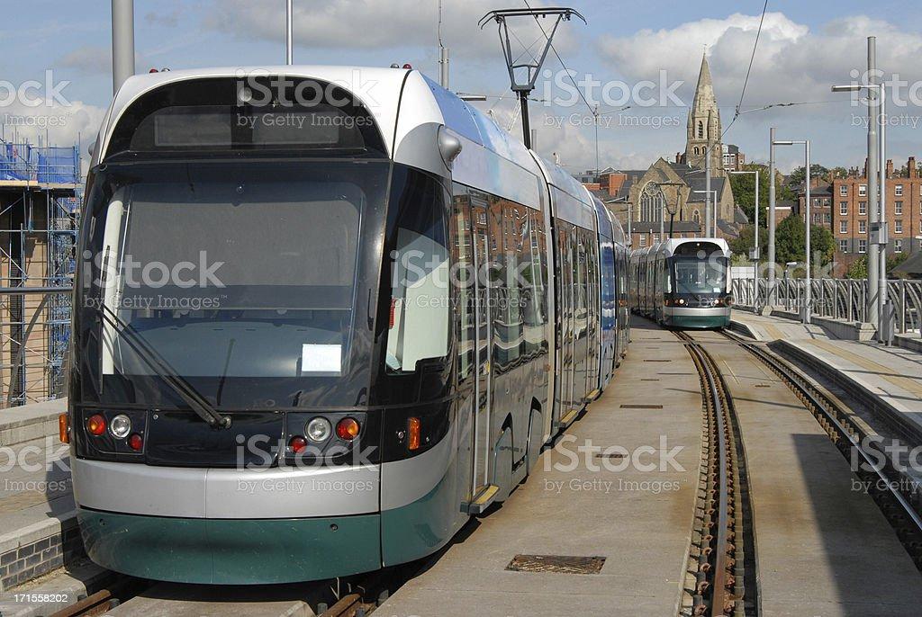 Nottingham Trams stock photo