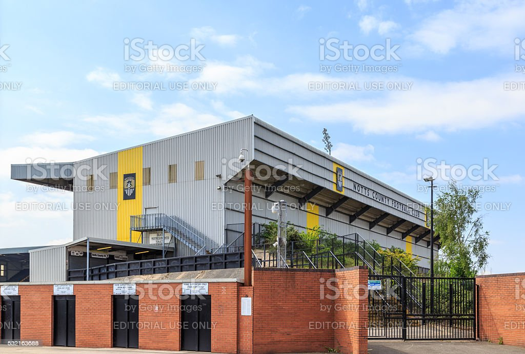 Notts County Football Club ground. In Nottingham, England. stock photo