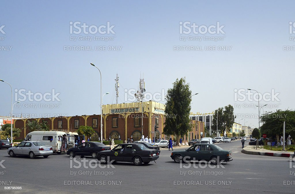 Nouakchott, Mauritania: downtown - central post office stock photo