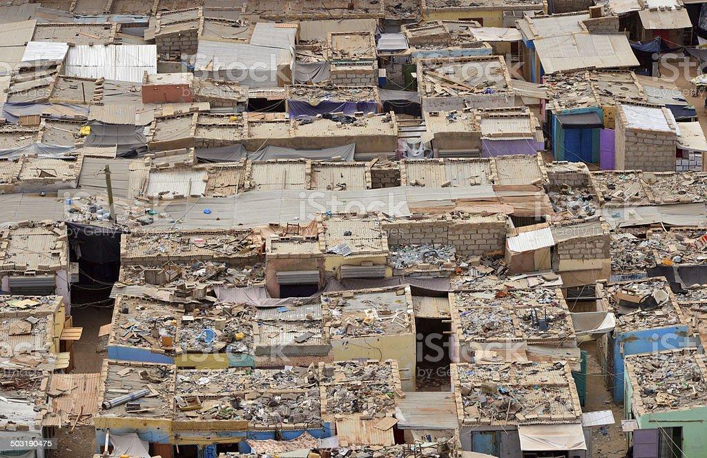 Nouakchott, Mauritania: slum stock photo