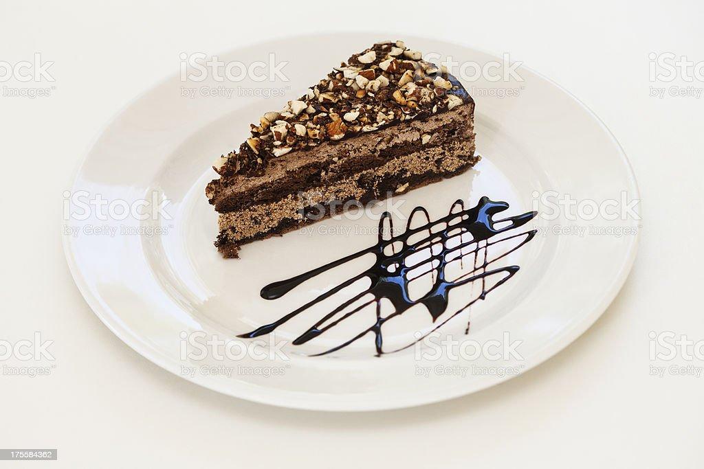 Nougat chocolate cake royalty-free stock photo