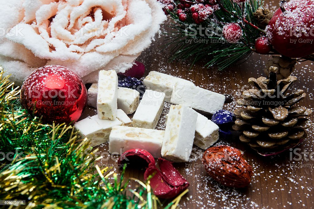 Nougat Traditional Spanish Sweet For Christmas Stock Photo 626075916
