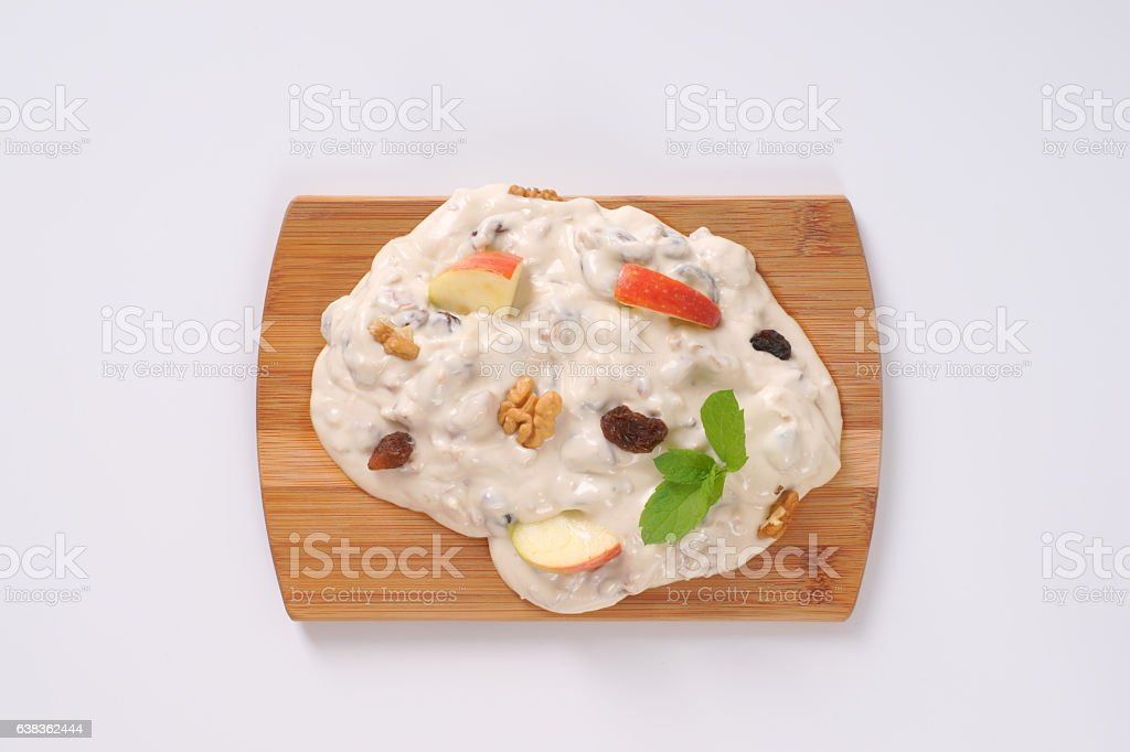 Nougat with nuts stock photo