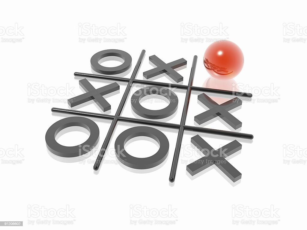 noughts and crosses royalty-free stock photo
