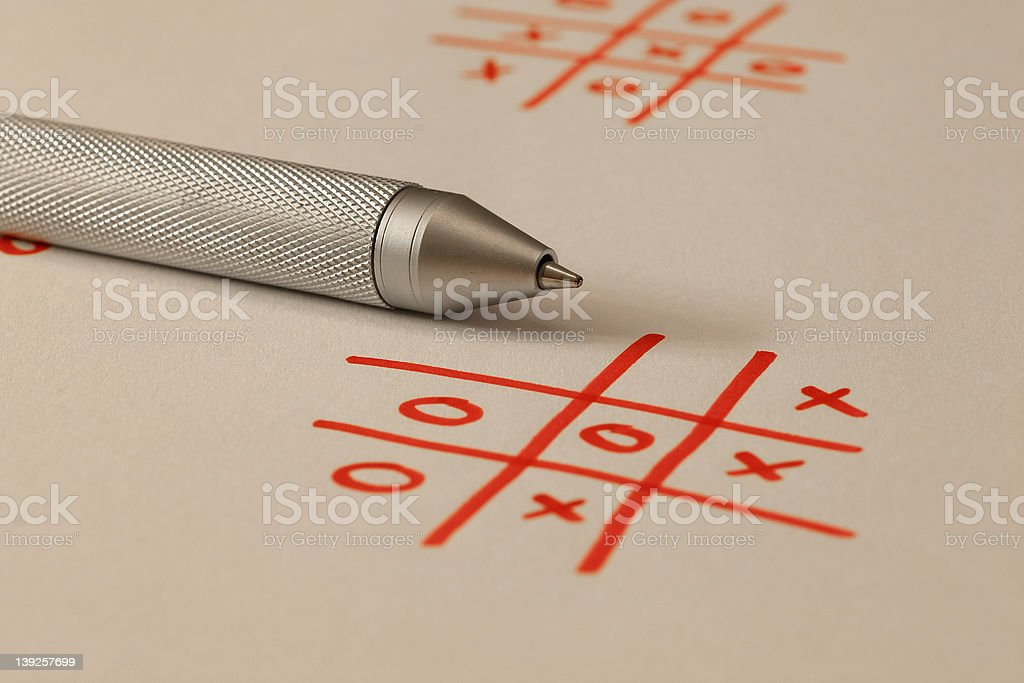 Noughts And Crosses - Tic Tac Toe stock photo