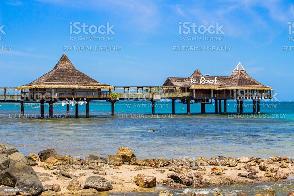 Noumea New Caledonia Stilt House Restaurant stock photo